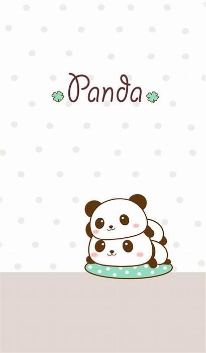 Panda Kawaii Wallpapers Bears Backgrounds Iphone Cartoon