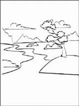 Coloring River Stream Printable sketch template