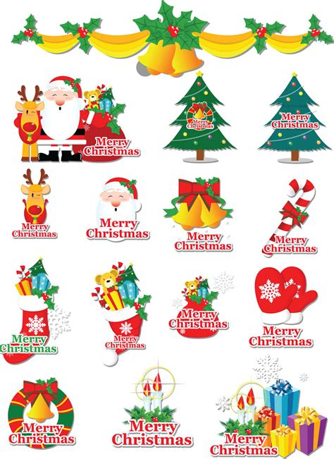 christmas clip art  labels clipground