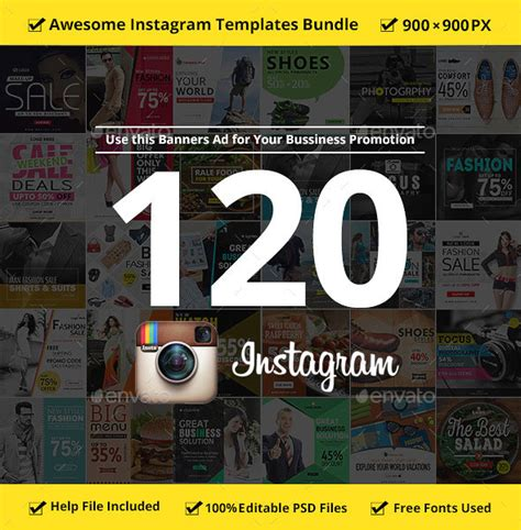instagram advertising 101 awesome ad templates for