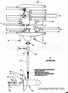 Complete Trolling Motor Model Gwb67v    Gwt67v   24 Volt