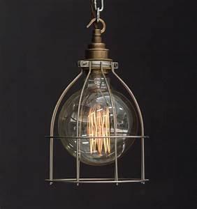 Es large cage industrial pendant vintage lighting