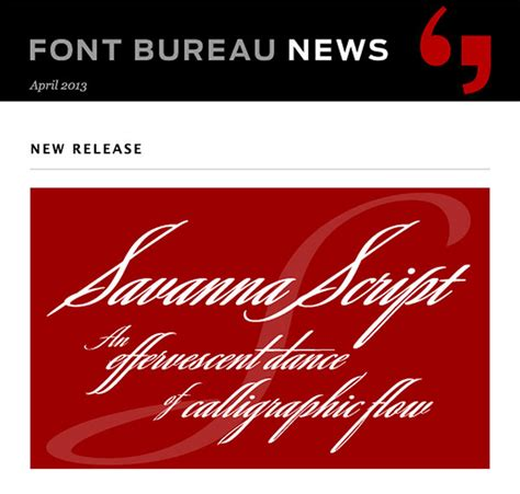 font bureau 9 design newsletters to stay current on type