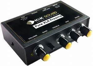 K U0026k Sound Pure Xlr Preamp  Eq  Di For Passive Guitar