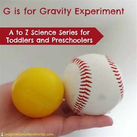 g is for gravity experiment inspiration laboratories 805 | Gravity Experiment