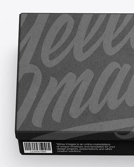 Sample design is not included in the download file. Download White Shoe Box Mockup PSD - Kraft Shoes Box ...