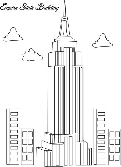 Pin by Cynthia Hailey on 1st Grade Projects | Coloring pages, Empire state, Empire state building