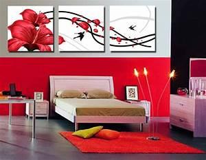 excellent tableau moderne grand format salon rouge chambre With amazing couleur peinture pour couloir 9 tableau rouge les montagnes moderne