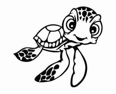 Nemo Turtle Finding Svg Squirt Drawing Sea