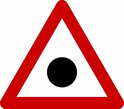 Warning Blind Spot Sign Svg Road Spots