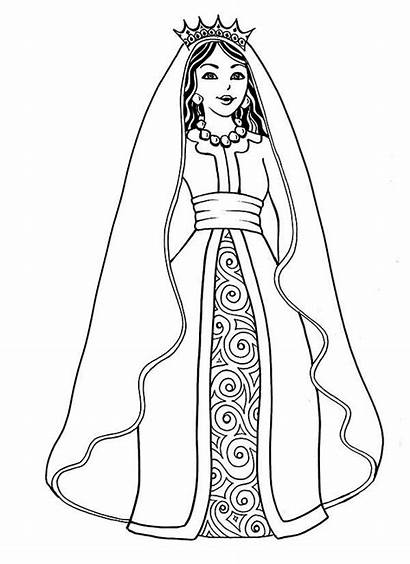 Queen Esther Coloring Drawing Play