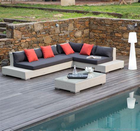 canape angle exterieur salon de jardin 6 places canapé d 39 angle table basse en