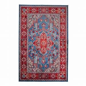 tapis persan royal icon style oriental par drawer With tapis persan bleu