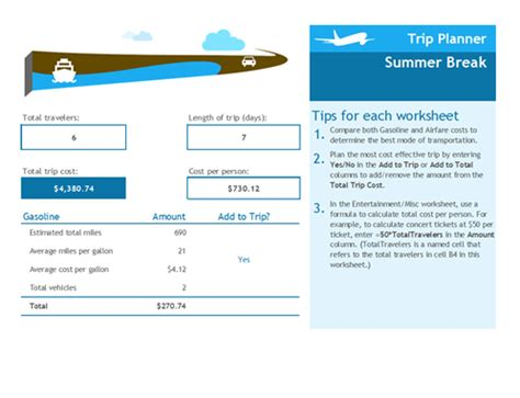 trip tracker certificate template student assignment planner office templates