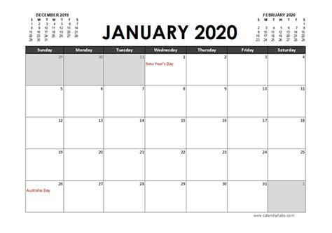 excel calendar planner australia  printable