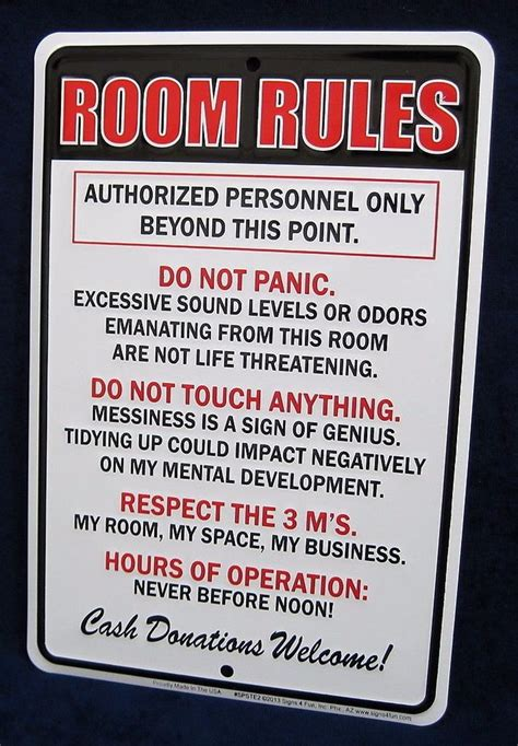 Room Rules  *us Made* Embossed Metal Tin Sign Teen. Industrial Kitchen Island Lighting. Small Kitchen Organization Solutions. Small Open Kitchen Design Ideas. Small Black Flies In Kitchen. Amish Furniture Kitchen Island. Design Island Kitchen. Small Kitchen Light. Presto Small Kitchen Appliances