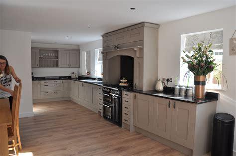clients stone grey ash kitchen  absolute black granite