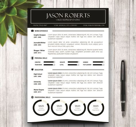 black  white resume template resume templates