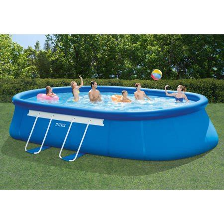 intex      oval frame swimming pool walmartcom