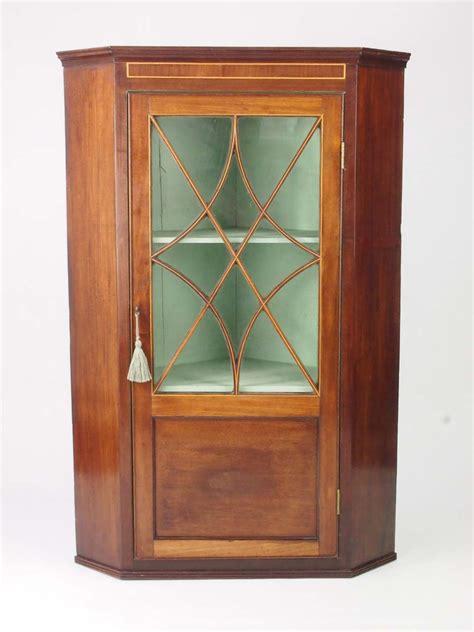 Georgian Corner Cupboard by Antique Georgian Mahogany Corner Cabinet Cupboard For Sale