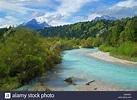 Isar river scenery, Germany, Bavaria, Oberbayern, Upper ...