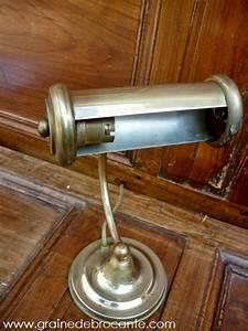 Lampe De Bureau En Laiton Ancienne