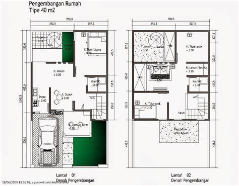 denah rumah minimalis  lantai ukuran  expo desain rumah