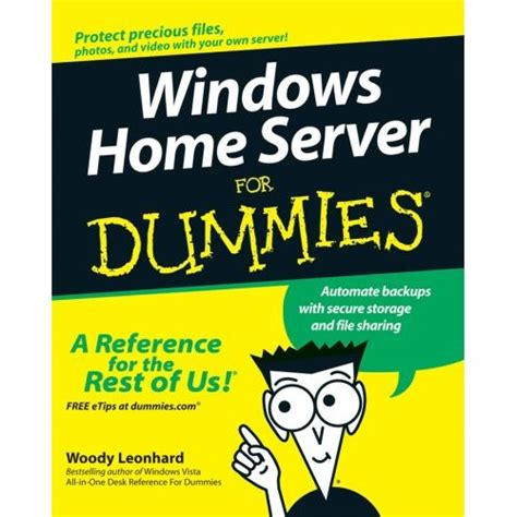 windows server for dummies windows home server for dummies