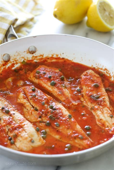 fish fillet tomato sauce capers tomatoes recipe wine recipes skillet caper grouper easy healthy broiled flounder tilapia butter skinnytaste dishmaps