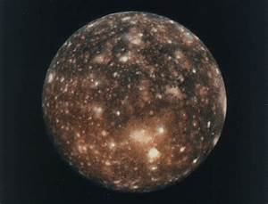 Jupiter Next to the Moon Callisto - Pics about space