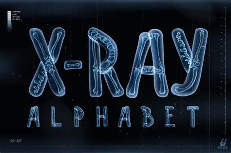 Vector 3d X-ray Transparent Alphabet