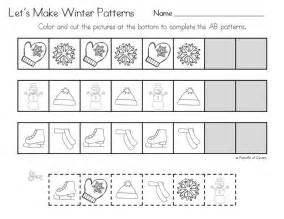 Patterns Worksheets For Kindergarten  Free Shape Pattern Worksheets For Kindergarten Number And