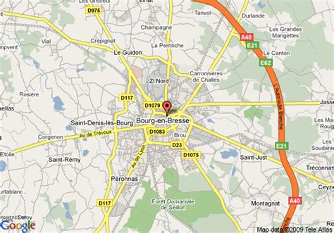 map of best western hotel de bourg en bresse