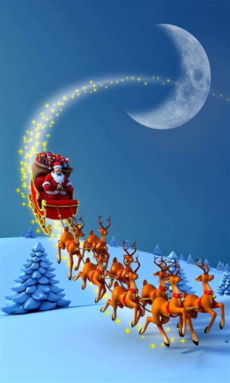 Animated Santa Wallpaper - santa claus with reindeers wallpaper hd