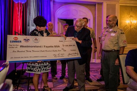 lumber successfully raises funds  boy scouts