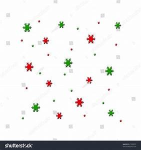 Red Green Snowflakes Various Sizes Random Stock ...