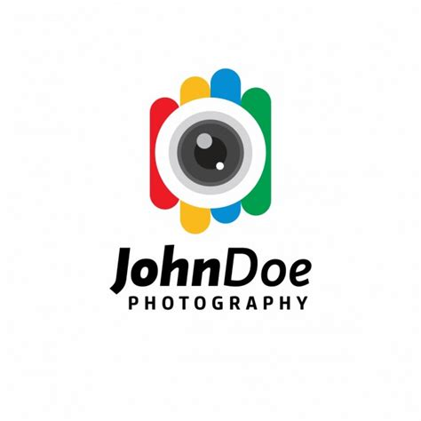 colorful photography logo template vector