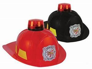 Black Orage Fireman Helmet Lights and Sound Siren Child Toy