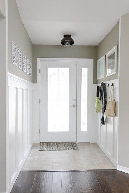 narrow entry hall idea that grey plus black l and