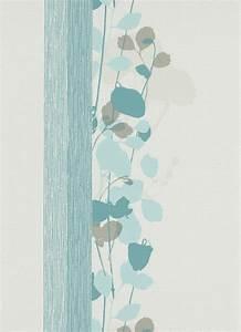 Tapete Zum Abwischen : fizz 6814 08 tapete vlies floral creme grau blau t rkis petrol 1 69 m ebay ~ Markanthonyermac.com Haus und Dekorationen
