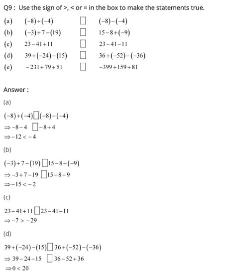 ncert solutions for class 7 maths integers exercise 1 1 10