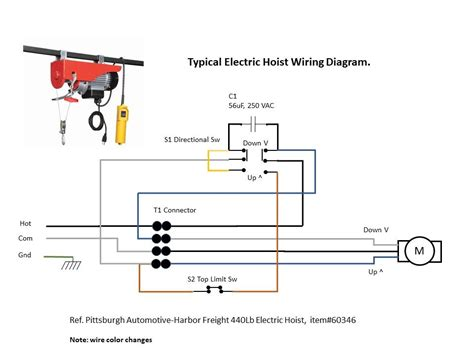 Warn 1000 Ac Winch Motor Wiring Diagram by Electric Hoist Wiring Diagram Harbor Freight Attic