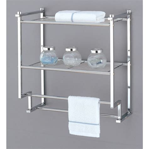 bathroom towel rack wall mount rack home kitchen bathroom bath shelf holder