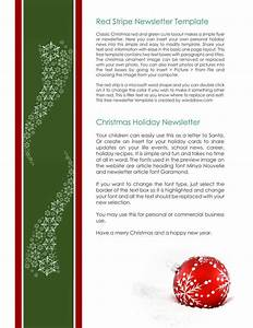 Ms Word Business Letter Template 9 Christmas Newsletter Templates To Create Printable And