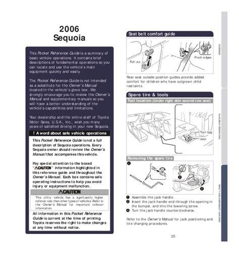 auto repair manual online 2006 toyota sequoia free book repair manuals 2006 toyota sequoia reference owners guide