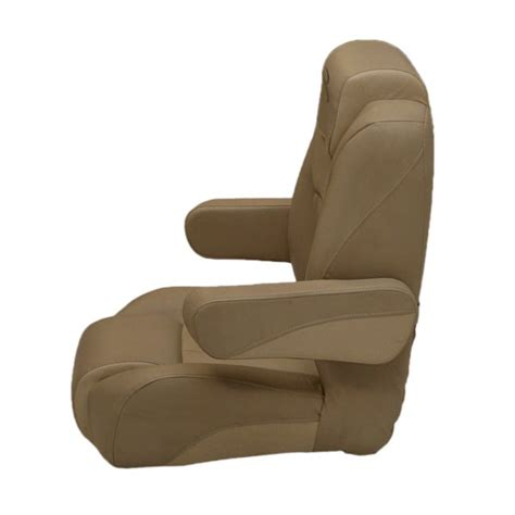 Bennington Pontoon Boat Captains Chair by Bennington Beige Reclining Pontoon Boat Captains Seat
