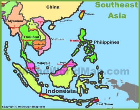 map  southeast asia southeastern asia