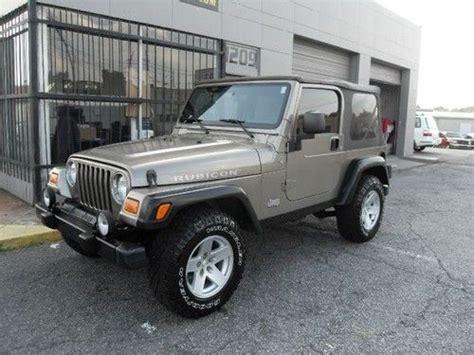 tan jeep wrangler 2 door buy used 2006 jeep wrangler rubicon sport utility 2 door 4