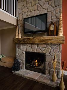 Barn Beam Mantel Home Design Ideas Pictures Remodel And