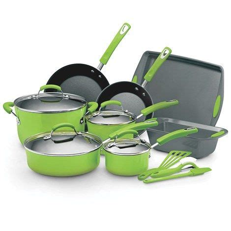 ray cookware lime rachael rachel kitchen cooking burlington pot dark factory pots pans coat sets ware piece need 15pc cook